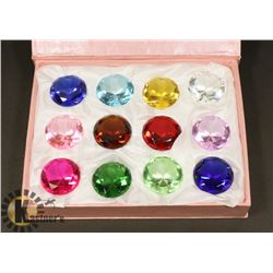 DISPLAY BOX WITH 12 ASSORTED DIAMOND SHAPED