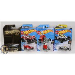LOT OF 4 NEW SEALED SPECIAL ISSUE HOTWHEELS
