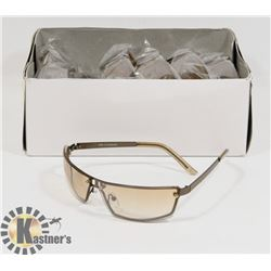 BOX OF AMBER DESIGNER SUNGLASSES