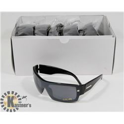 BOX OF BLACK DESIGNER SUNGLASSES
