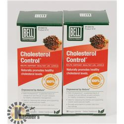 LOT OF 2 BELL CHOLESTEROL CONTROL TABLETS