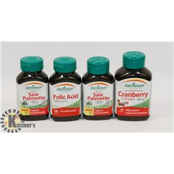 LOT OF 4 JAMIESON VITAMINS INCL FOLIC ACID,