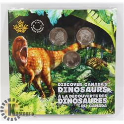2019 DISCOVER DINOSAURS CANADA 25 CENTS 3 COIN
