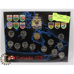 125 ANNIVERSARY CANADIAN MINT COIN SET.