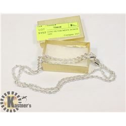 STAMPED 925 MEN'S 30 INCH ROPE CHAIN