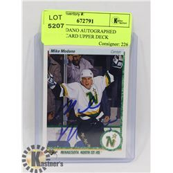 MIKE MODANO AUTOGRAPHED HOCKEY CARD UPPER DECK