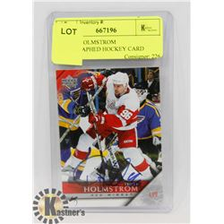TOMAS HOLMSTROM AUTOGRAPHED HOCKEY CARD