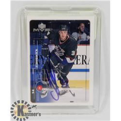 JASON STURDWICK VANCOUVER CANUCKS SIGNED CARD.