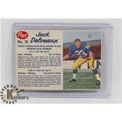 1962 POST CEREAL FOOTBALL CARD.