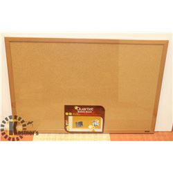 """NEW 24"""" X 36"""" CORK BULLETIN BOARD WITH MOUNTING"""