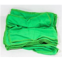 PACK OF 10 NEW GREEN MICROFIBER RAGS