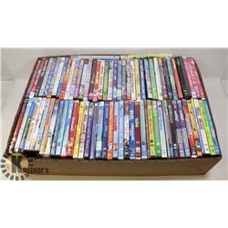 BOX OF KIDS DVDS