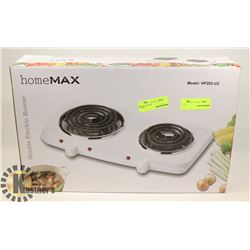 HOMEMAX DOUBLE ELECTRIC BURNER.