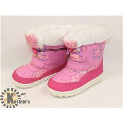WEATHER SPIRITS GIRLS SIZE 10 WINTER BOOTS, PINK &
