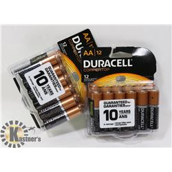 2 NEW PACKS OF DURACELL COPPERTOP