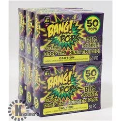 6 PACKS OF BANG! POPS / 50 PER PACK