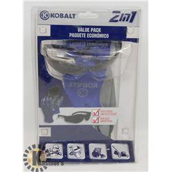 KOBALT 2 IN 1 SAFETY GLASSES & WORKING GLOVES