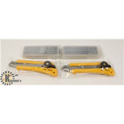 2 BOX CUTTER/OLFA KNIVES & 100 BLADES