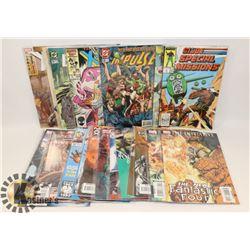 BOX OF COMICS, G.I JOE,  SPIDERMAN, BATMAN AND