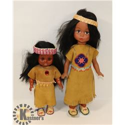 INDIGENOUS FIRST NATIONS DOLLS .