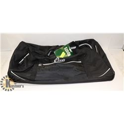 ROOTS DUFFEL BAG, BLACK WITH WHEELS