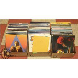3 BOXES OF 160+ POP LP RECORDS.