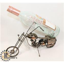 METAL WINE BOTTLE HOLDER MOTORBIKE