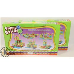 TWO 81PC BATTERY OPERATED FUNNY BRICKS