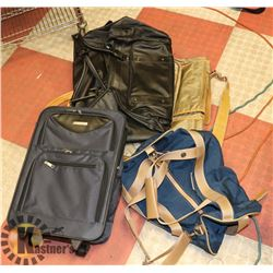 LOT OF ASSORTED DUFFEL BAGS AND 2 PC SUIT BAG