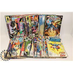 BOX OF ASSORTED COMIC BOOKS.