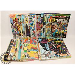 BOX OF ASSORTED VINTAGE MARVEL/DC COMICS.