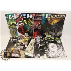 FLAT OF ASSORTED BATMAN COMICS.