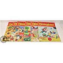 FLAT OF 8 VINTAGE DISNEYLAND MAGAZINE COMICS