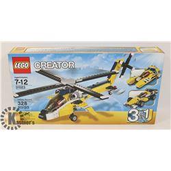 LEGO CREATOR YELLOW RACERS 3 IN 1 328 PCS