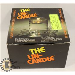 NEW THE UN-CANDLE FLOATING CANDLE BY CORNING