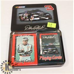 NEW NASCAR 2 DECK CARD SET IN A TIN BOX