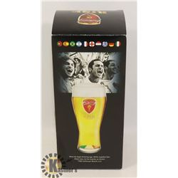 NEW BUDWEISER 2014 WORLD CUP BRASIL BEER GLASS