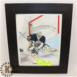 AUTOGRAPHED OILERS TOMMY SALO PHOTO