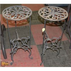 LOT OF 2 METAL PLANT STANDS