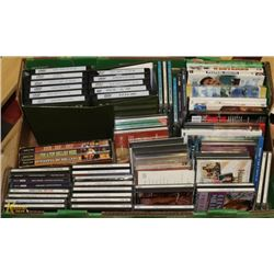BOX OF ASSORTED CD'S AND DVD'S