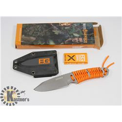 NEW! GERBER SURVIVAL KNIFE WITH CARRYING CASE