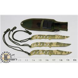NEW! 3PC CAMO THROWING KNIVES
