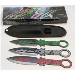"""NEW! 7.5"""" STAINLESS STEEL BLADE THROWING KNIVES"""