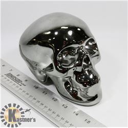 DARK GREEN TONE SKULL PIGGY BANK