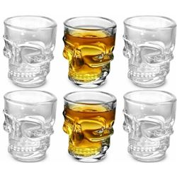 LOT OF NEW 6 X 50ml SKULL SHOT GLASSES