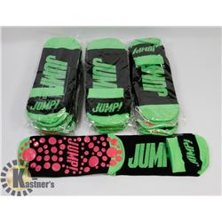 NEW! 12 PAIRS OF TRAMPOLINE SOCKS - GREEN
