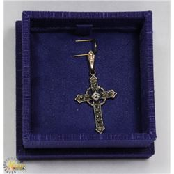 .925 SILVER & GOLD CROSS PENDANT -