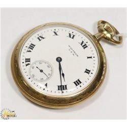1918 WALTHAM POCKET WATCH-WORKING