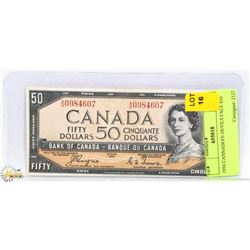 1954 CANADIAN DEVILS FACE $50 BILL