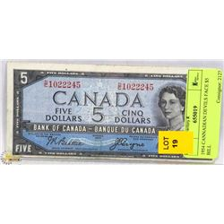 1954 CANADIAN DEVILS FACE $5 BILL